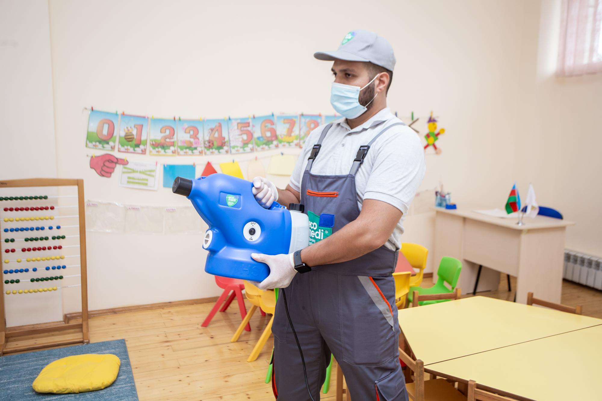 LET'S Uşaq Bağçası - Sağlamlıq təmizlikdən başlayır - EcoMedi MMC dezinfeksiya, dezinseksiya, deratizasiya, fumiqasiya işlərinin həyata keçirilməsi üzrə qabaqcıl şirkətdir.