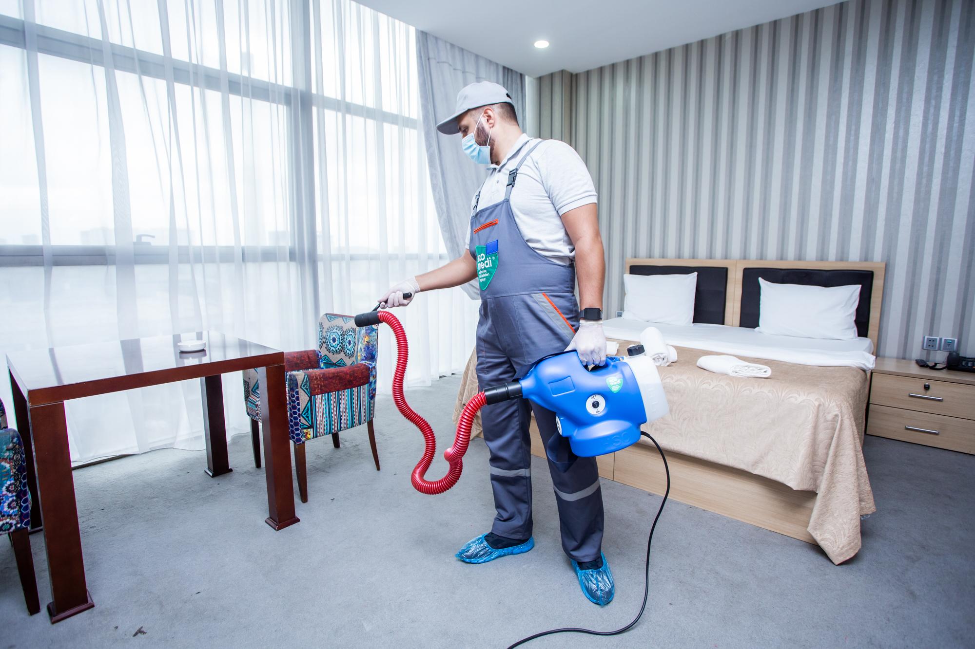 Secret Hotel - Sağlamlıq təmizlikdən başlayır - EcoMedi MMC dezinfeksiya, dezinseksiya, deratizasiya, fumiqasiya işlərinin həyata keçirilməsi üzrə qabaqcıl şirkətdir.